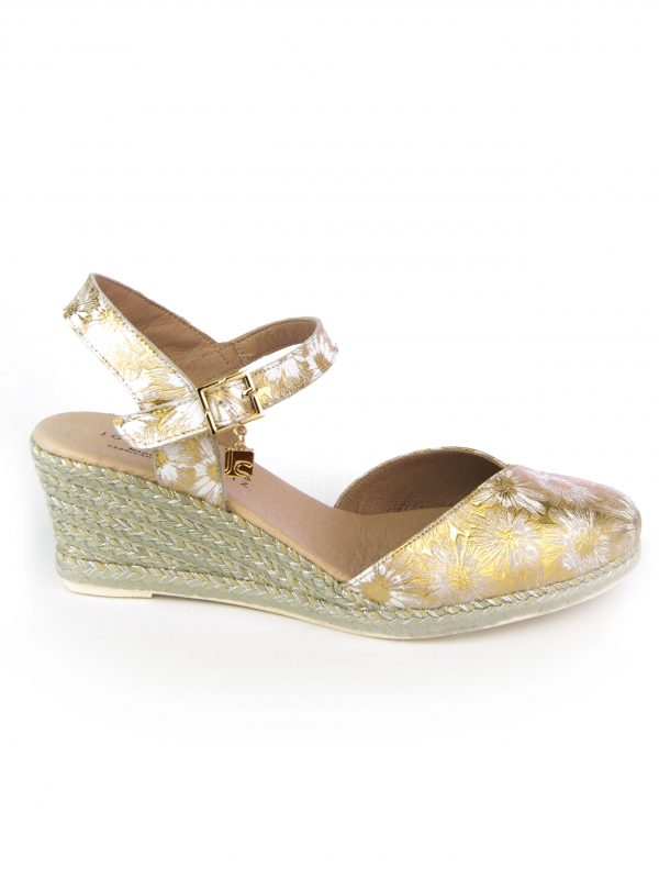 Jose Saenz Floral Low Wedge