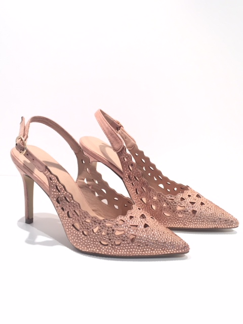 Menbur Blush Sparkle Slingbacks