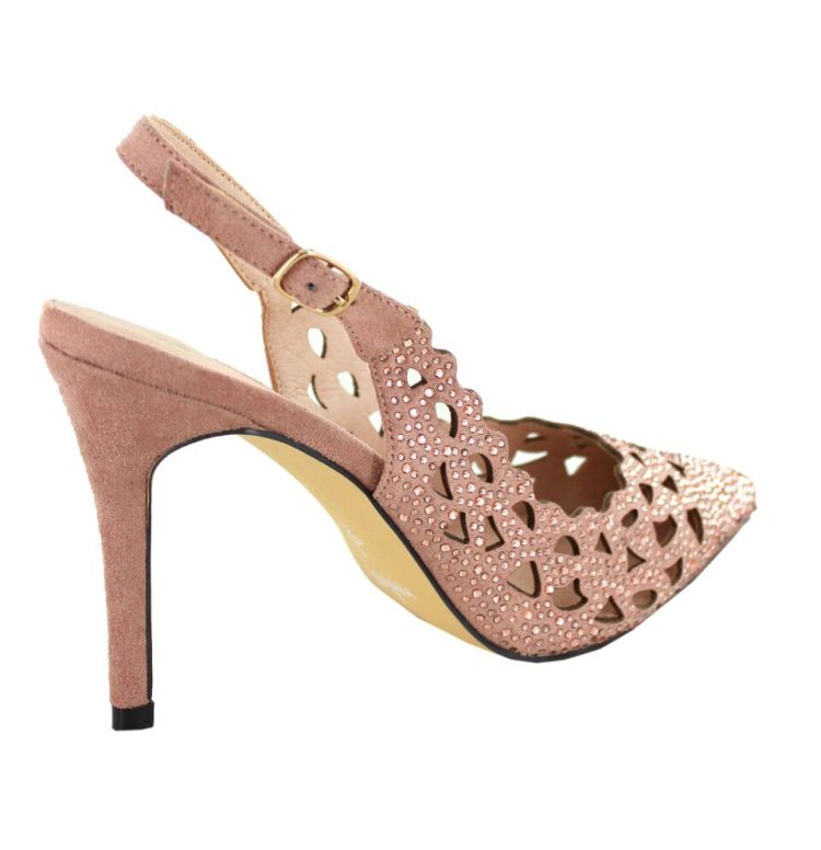 Menbur Blush Sparkle Slingback Shoes