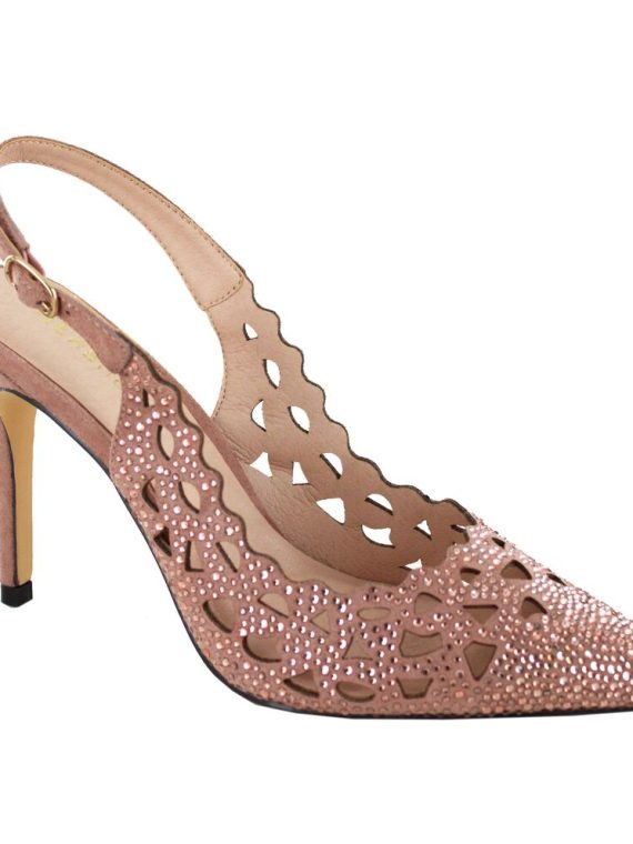 Menbur Blush Perforated Sling Back