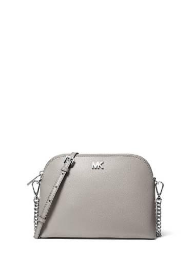 Michael Michael Kors LG Zip Dome Crossbody in Pearl Grey