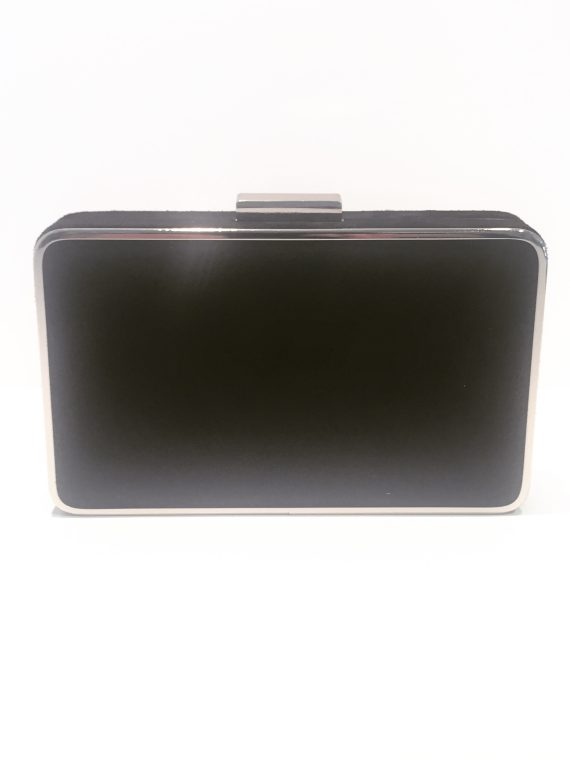 Menbur Black Sparkle Boxy Clutch