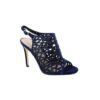 Menbur Caged Sandals in Navy Sparkle