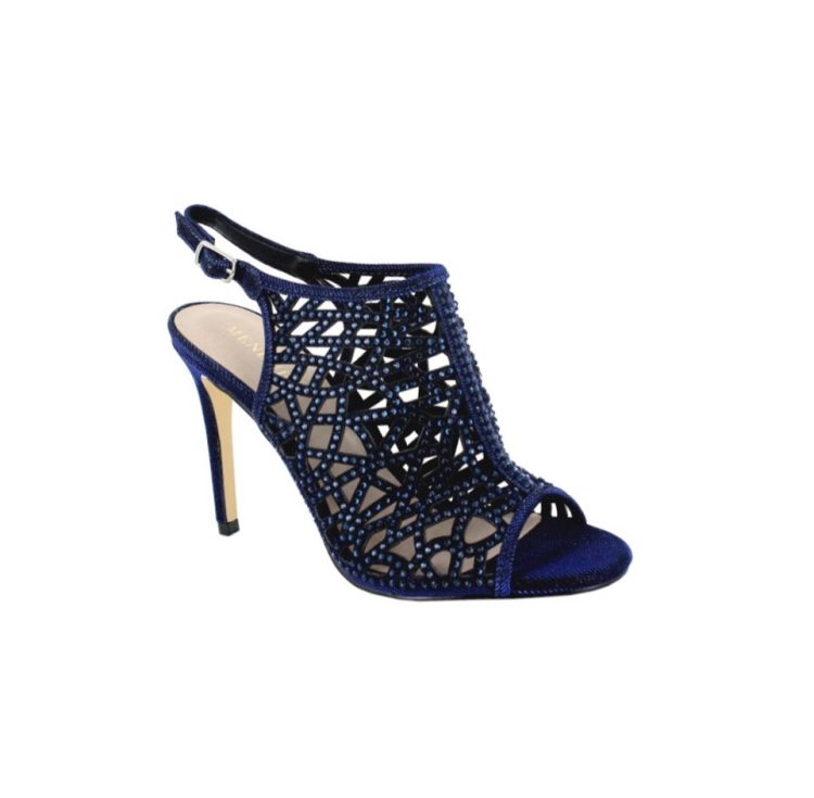 Menbur Navy Caged Sparkle Sandal