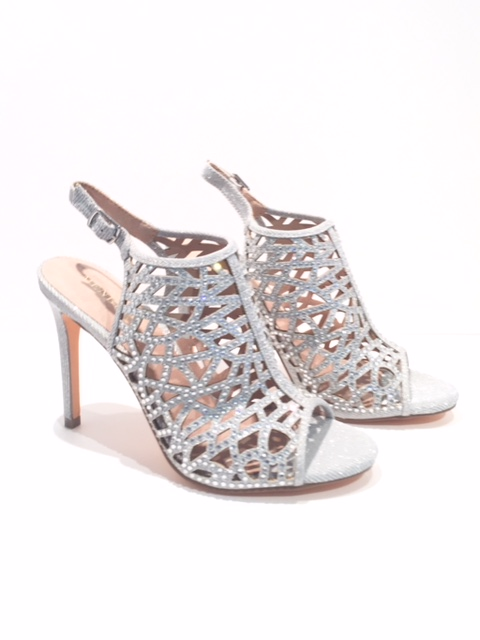Menbur Caged Sandals Silver