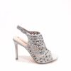 Menbur Caged Sandals in Silver Sparkle
