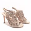 Menbur Caged Sandals in Champagne Sparkle