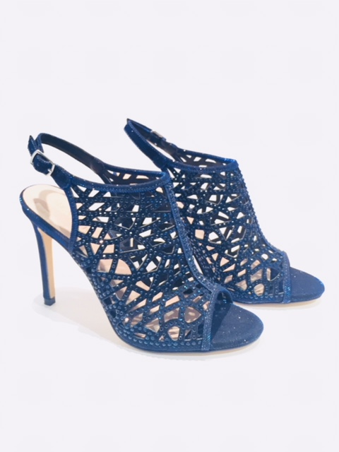 Menbur Navy Caged Sandals