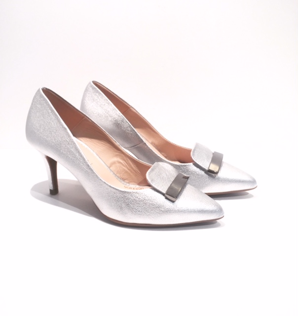 Marian Court Shoes in Silver Metallic