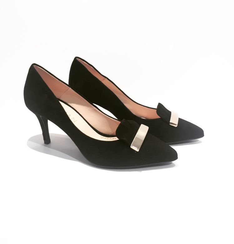 Marian Court Shoes in Black Suede