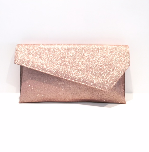 Marian Nude Glitter Clutch Bag