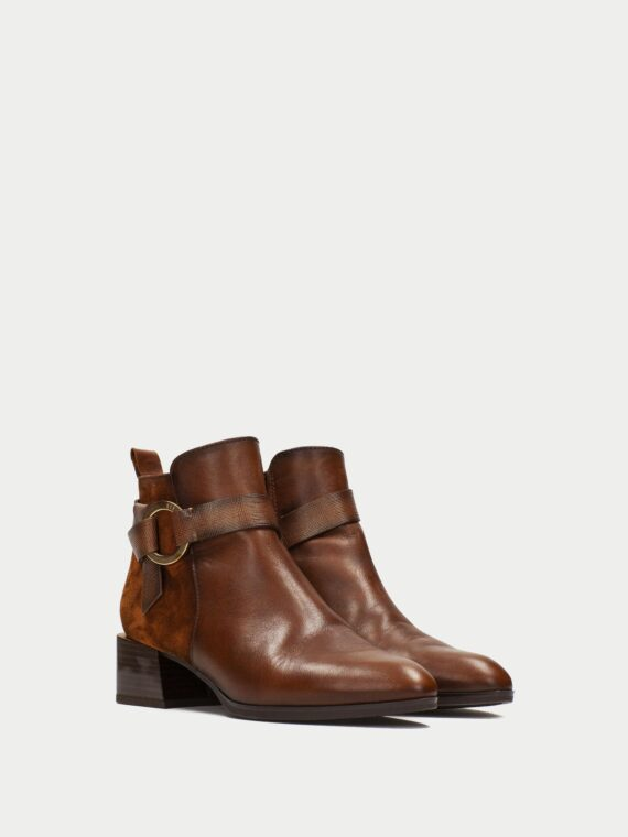 Hispanitas Tan Leather Ankle Boots