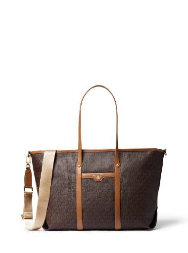 MK Beck Large Tote Brown Acorn 1