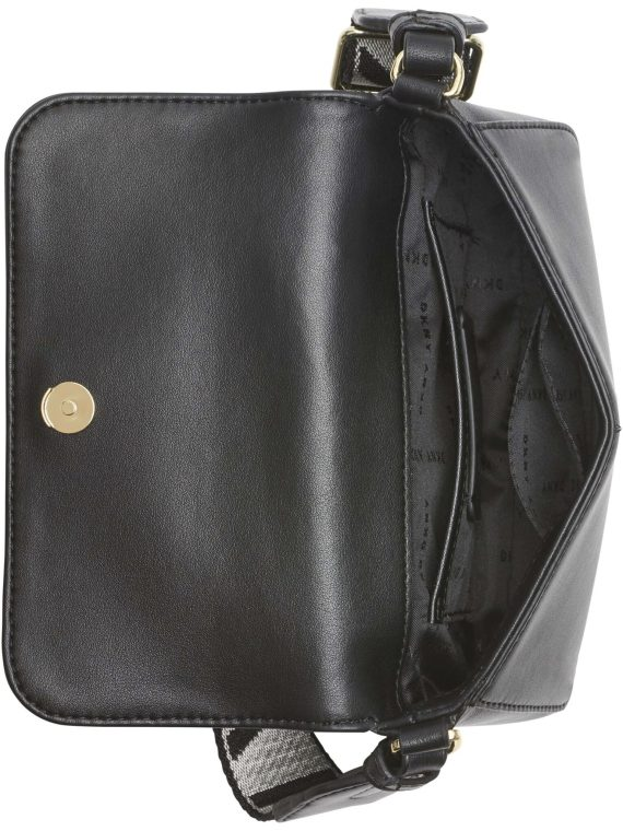 DKNY Winnona Mini Flap Crossbody in Black