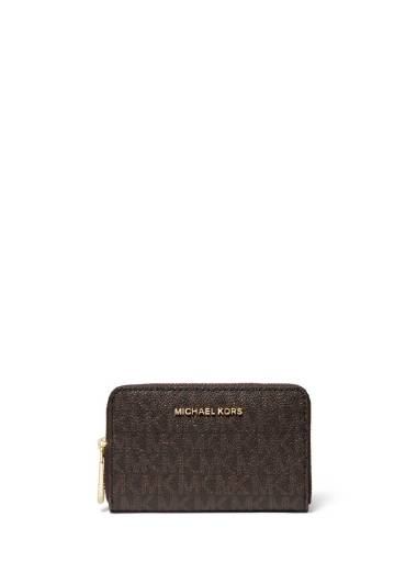 Michael Kors SM ZA Card Case Brown Logo Acorn 1