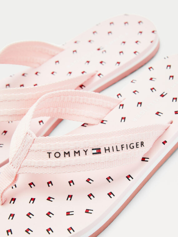Tommy Hilfiger TH Mini Flag Flip Flops Light Pink