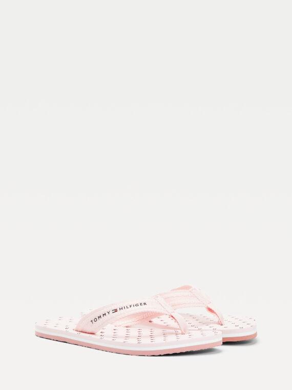 Tommy Hilfiger Pink Flag Flip Flops 4