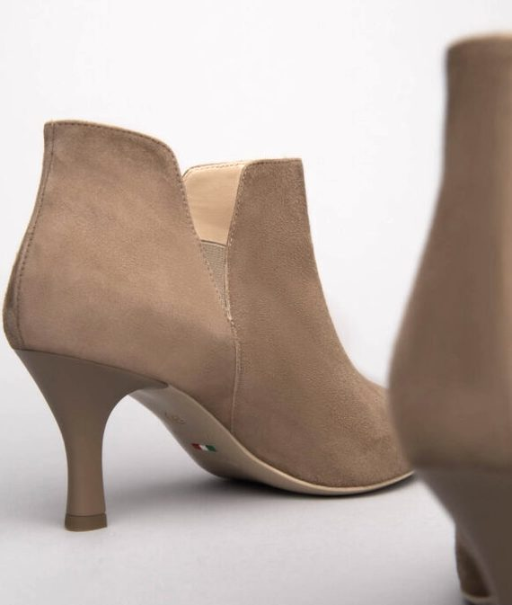 NeroGiardini Beige Suede Ankle Boots