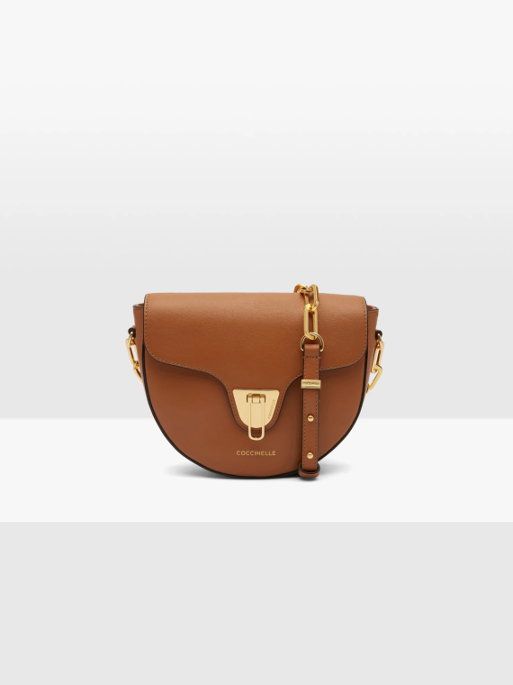 Coccinelle Beat Smooth Chain Crossbody Bag Caramel 1