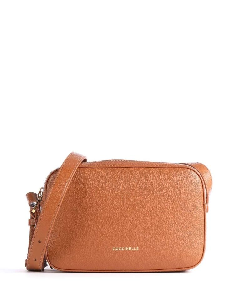 Coccinelle LEA crossbody in Caramel Tan
