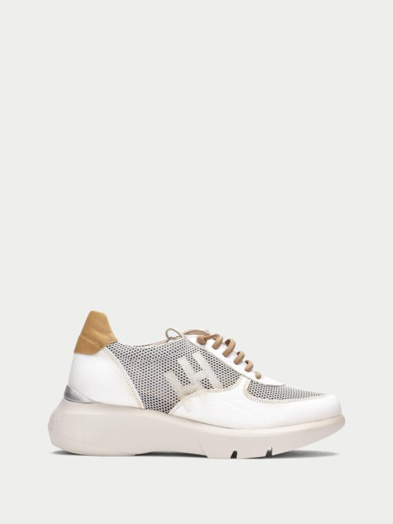 HISPANITAS Telma Sneakers in White with Tan