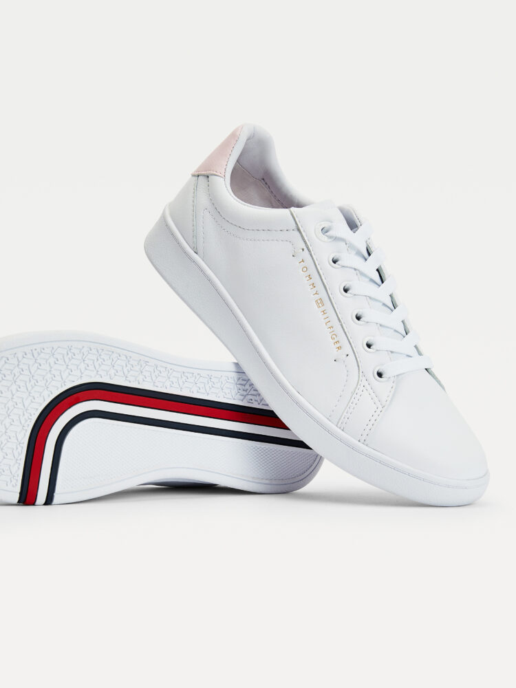 Tommy Hilfiger Premium Court Sneakers White with Pink