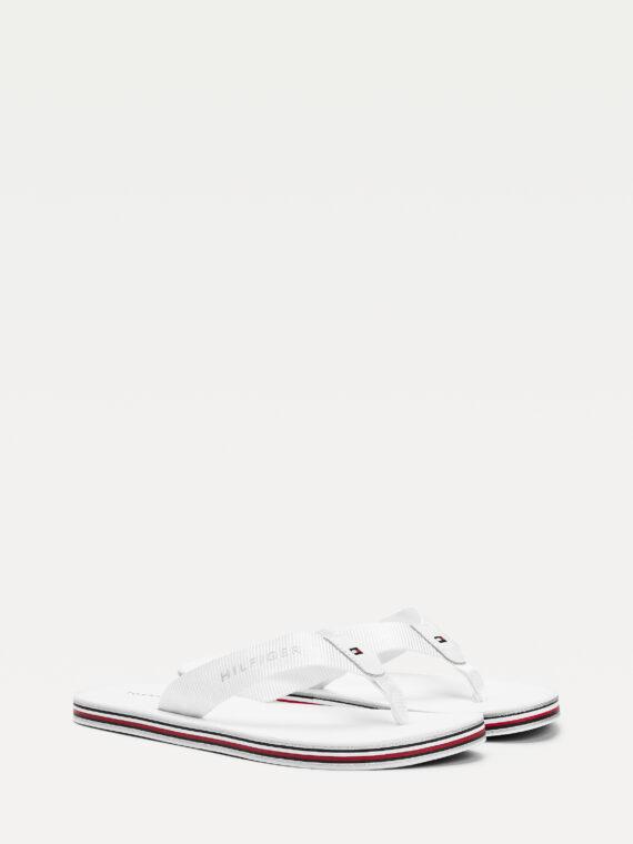 Tommy Hilfiger Tommy Stripes Flip Flops in White