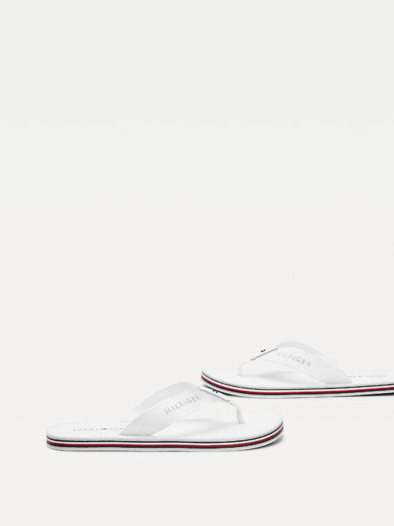 Tommy Hilfiger Stripes Flip Flops in White