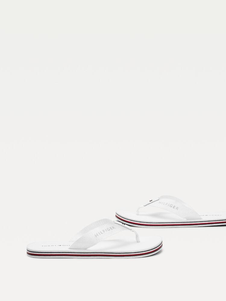 Tommy Hilfiger Stripes Flip Flops in White