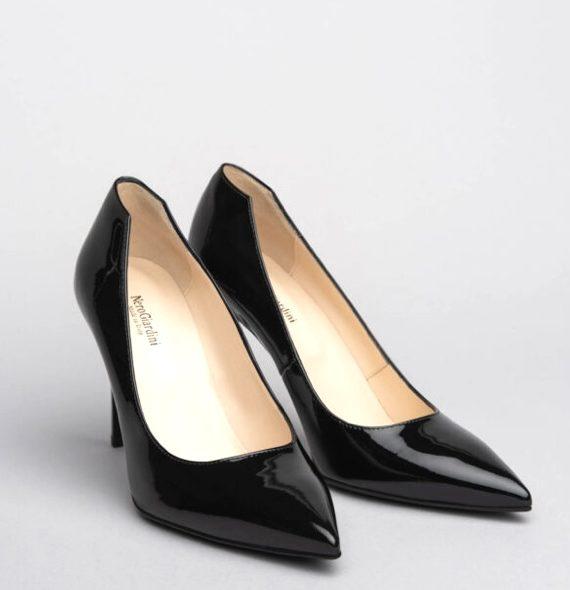 NeroGiardini Black Patent Leather Stilettos