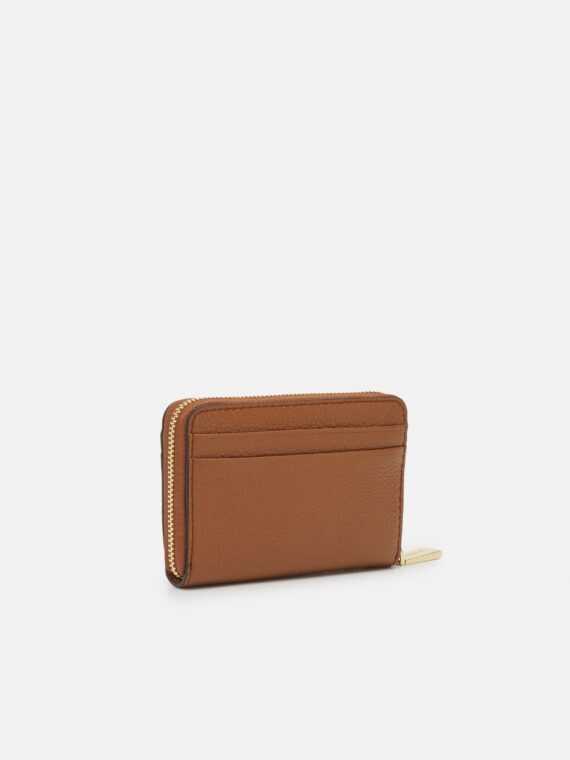 Michael Michael Kors Small Zip Around Card Case in Luggage